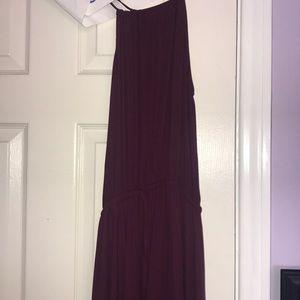 Lulu's plum halter prom dress